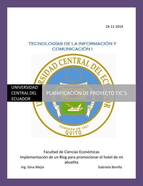 Planificacion Implementación de un blog Gabriela_Bonilla