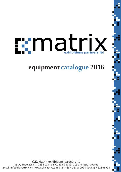 CKMATRIX product catalogue 2016