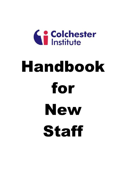 Handbook for New Staff