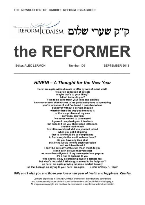The Reformer Sept 2013