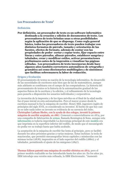 LOS PROCESADORES DE TEXTO