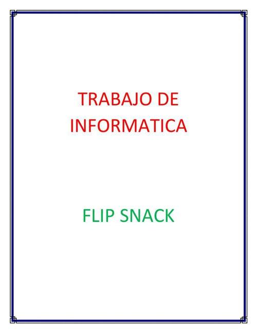 TRABAJO DE INFORMATICA
