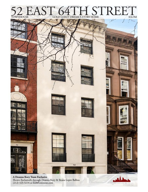 52 East 64th Street Townhome