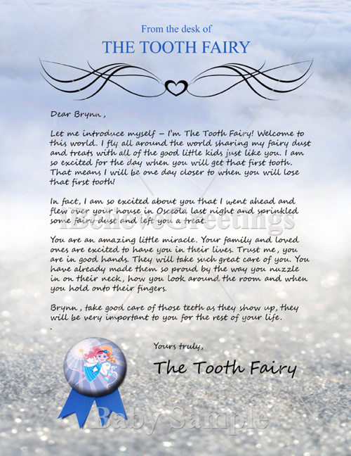 Tooth Fairy Letter Samples