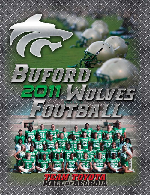 Buford Wolves 2011 Football Program
