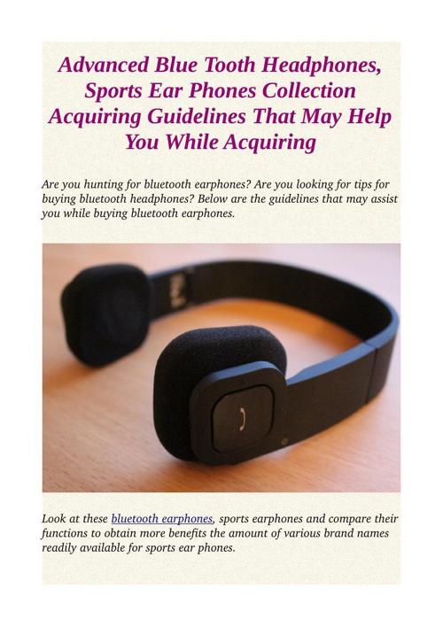 Advanced blue tooth earphones, sporting activities ear phones se