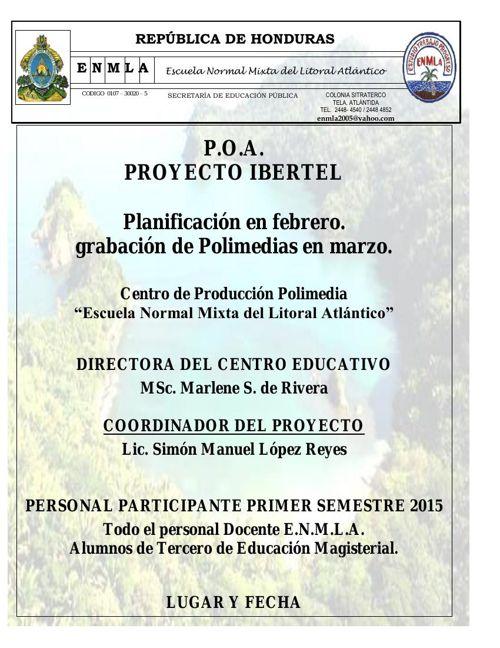 POA Proyecto Ibertel Tela ENMLA (planificacion en febrero - Grab