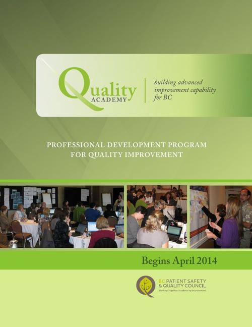 Quality Academy Cohort 8 Brochure