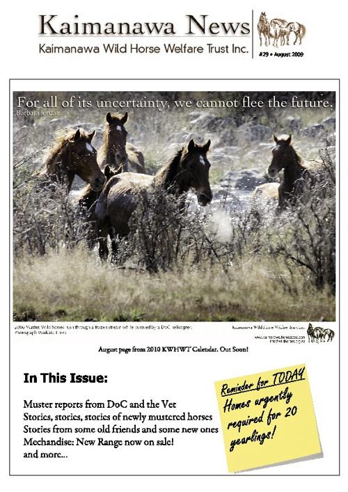 29 KWHWT Newsletter August 2009