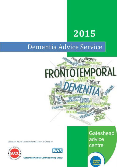 Dementia Report - Gateshead Citizens Advice