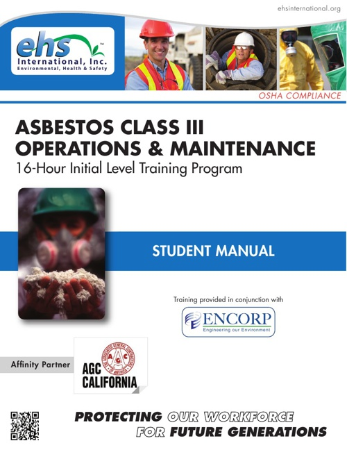 Asbestos Class III Operations and Maintenance Student Manual