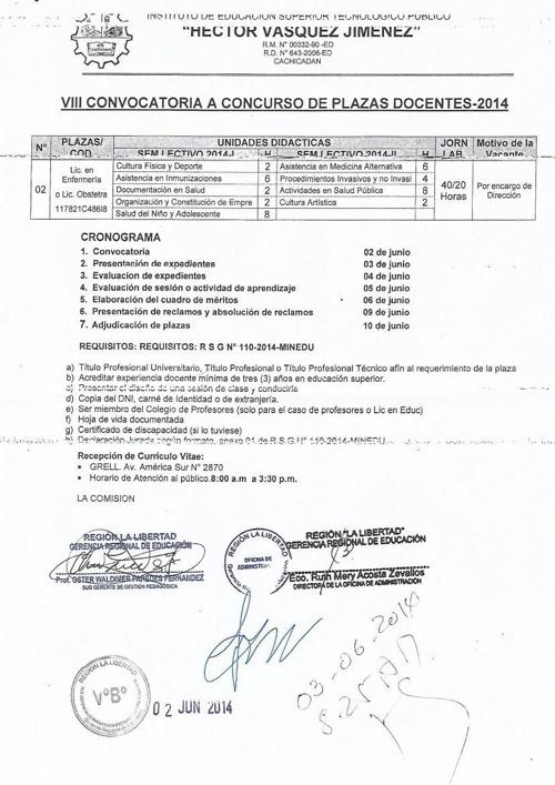 Conv. ISTP Hector Vásquez Jimenes