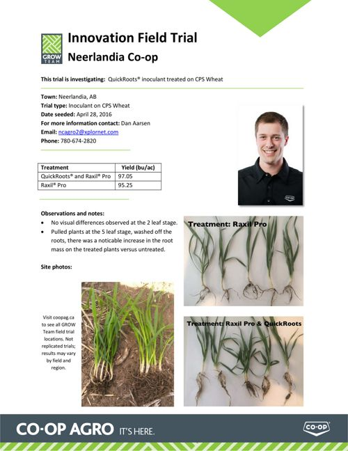 Grow Team Field Trial Info Sheet Demo 2