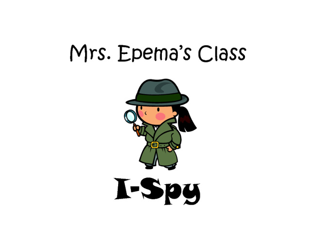 Mrs. Epema's I Spy book