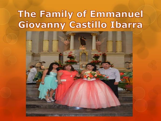 Giovanny's family