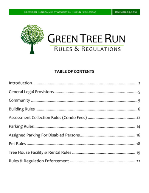 GTR Rules & Regulations (no cover)