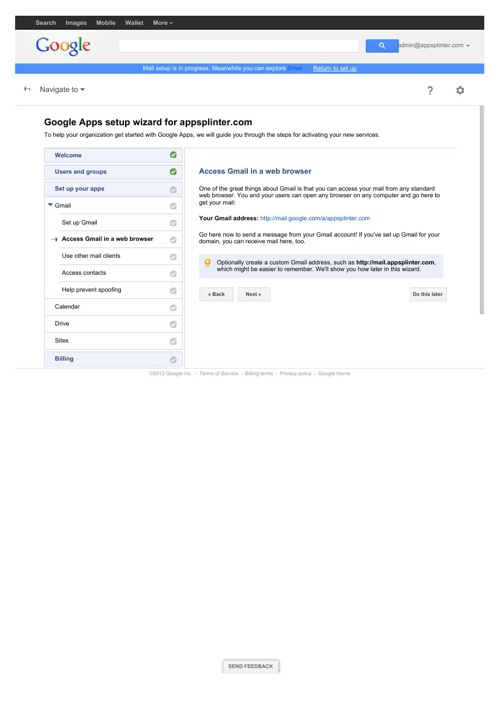 Summary of Google Enterprise Setup Steps (a)