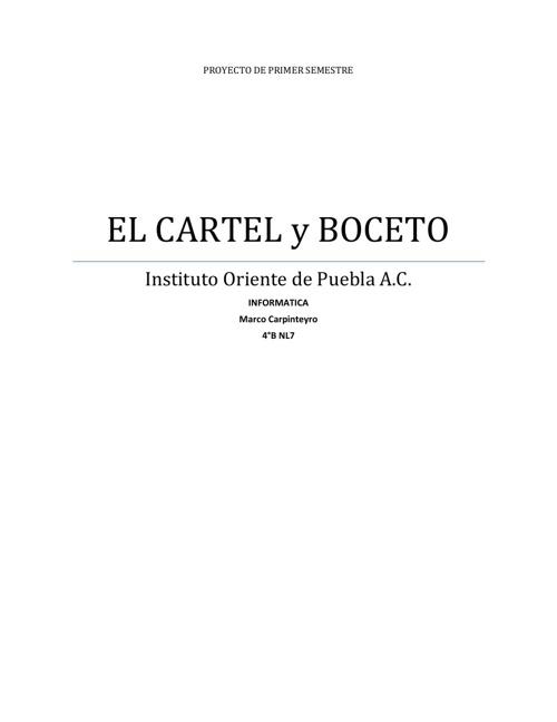 El Cartel y Boceto