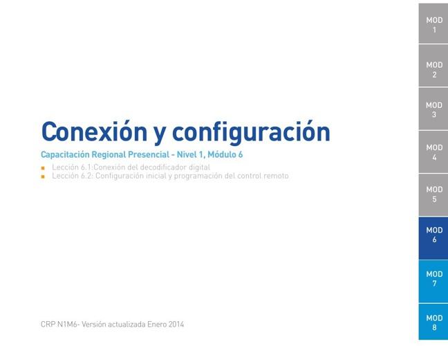 Módulo 6 - Conexión y configuración