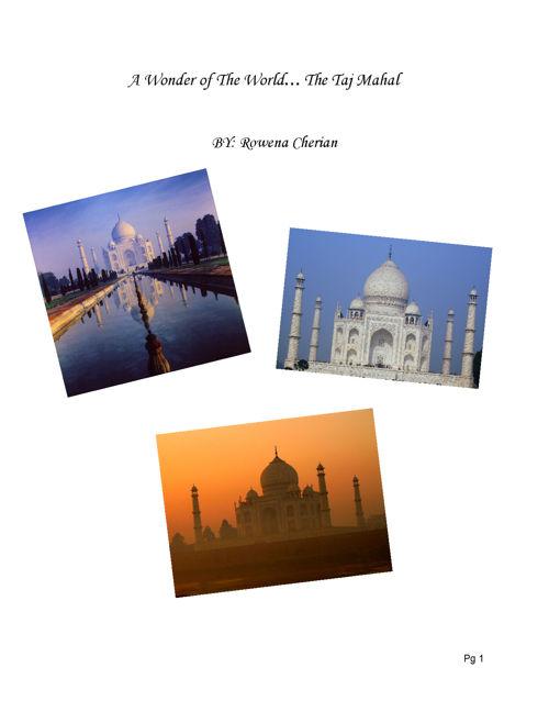 A Wonder Of The World... The Taj Mahal