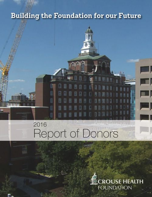2016 Report of Donors