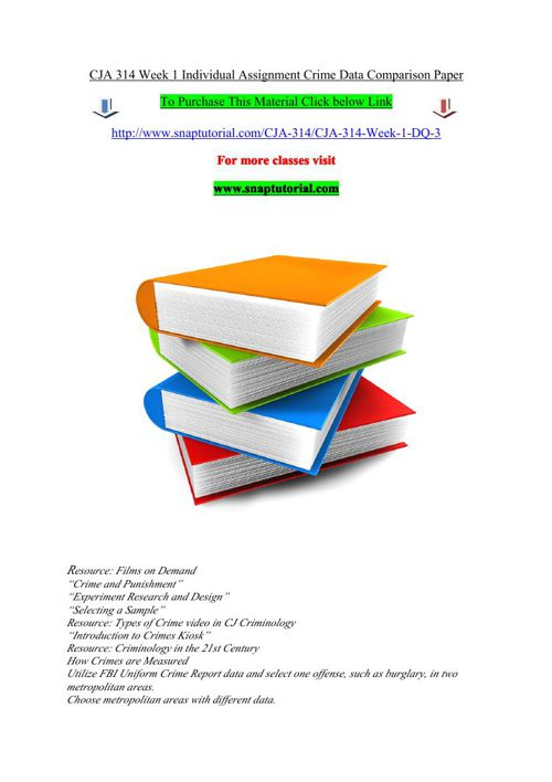 cja 314 week 1 criminology in the View homework help - week 1 - crime data comparison paper from cja 314 at university of phoenix crime data comparison paper1 crime data comparison paper name cja/314 date instructor name crime data.
