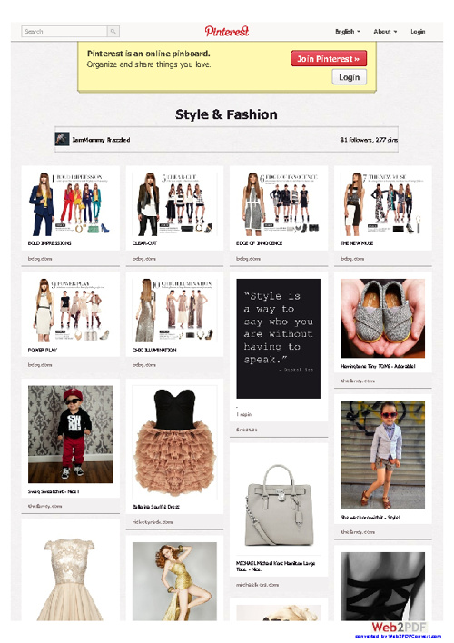 Pinterest  Style and Fashion Board