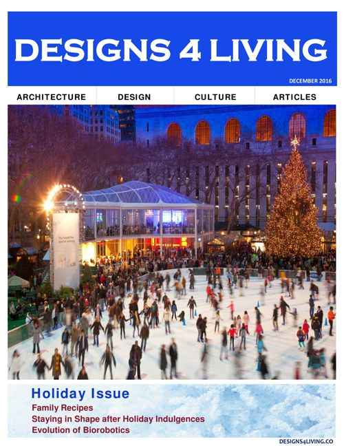 Designs 4 Living Magazine Holiday Issue 2016
