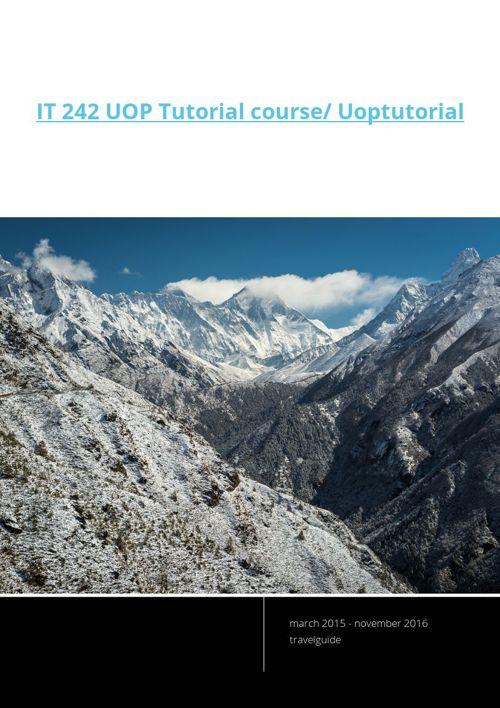 IT 242 UOP Tutorial course/ Uoptutorial