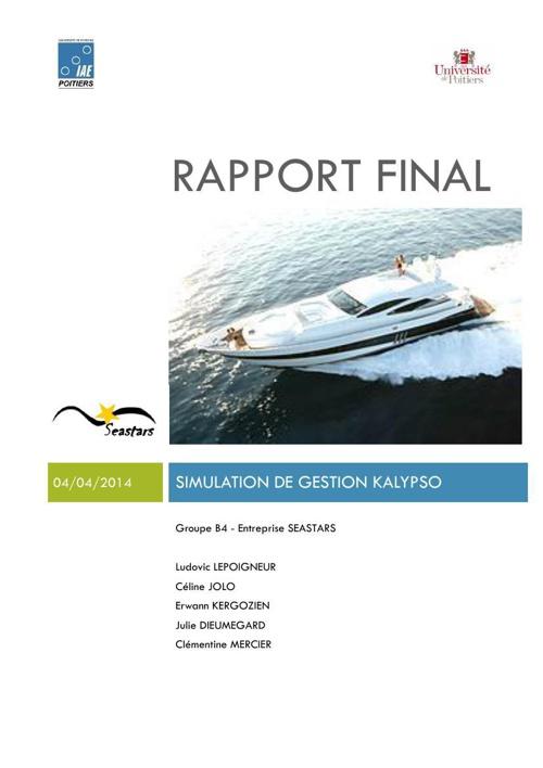 rapport final seastar