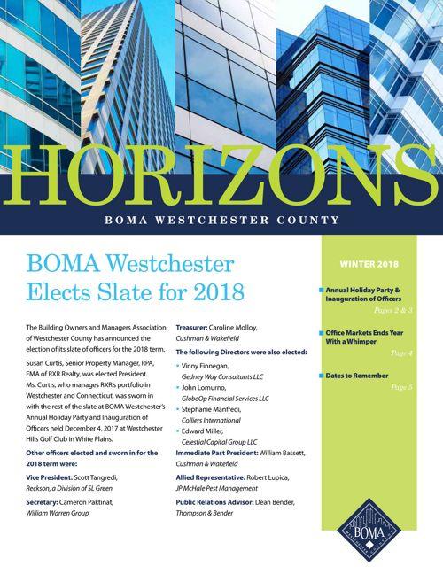 Westchester Winter Newsletter 2018