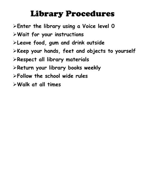 Library Media Center Procedures