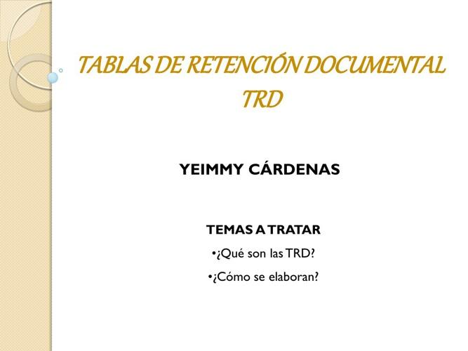 Copy of Tablas de Retención Documental