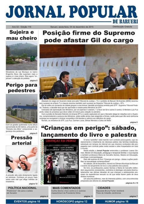 Versão On line - 116ª edição do Jornal Popular de Barueri