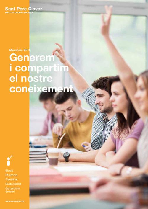Memoria 2015 - Institut Docent i Recerca
