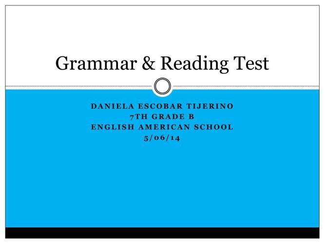 Grammar test 3