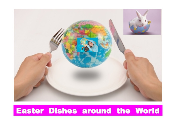 International dishes at Easter holiday