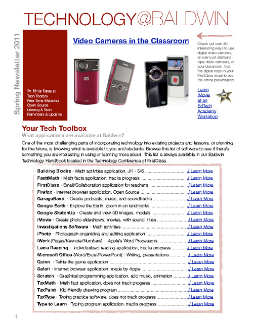 Spring Technology Newsletter