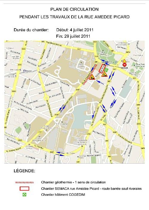 Plan de circulation - Travaux