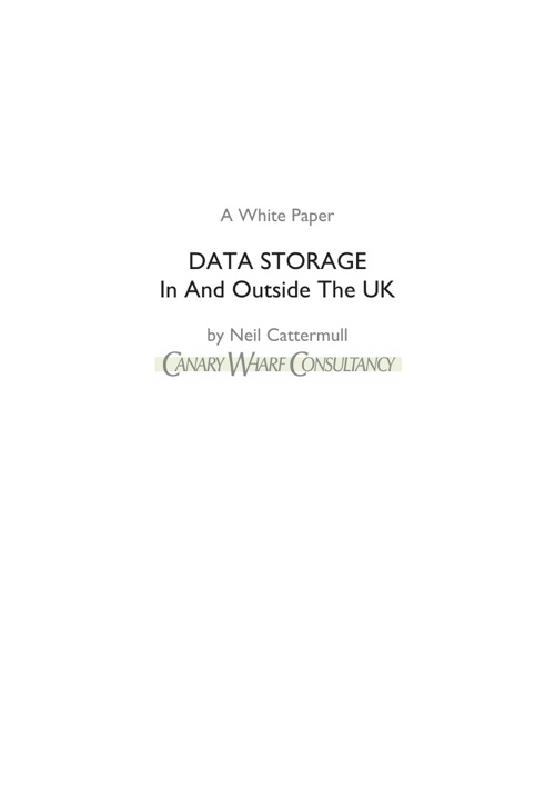 Data Storage in and outside the UK