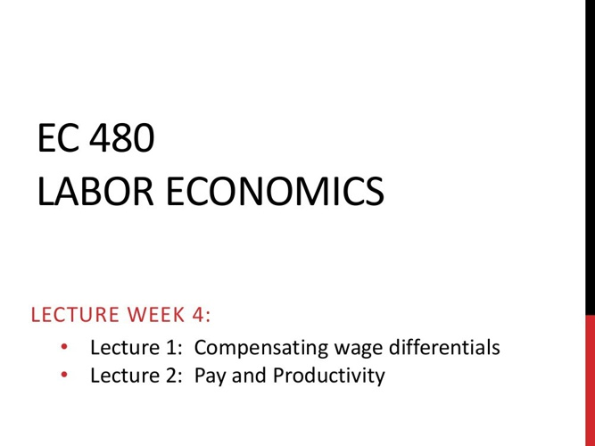 EC 480 Lecture Week 4