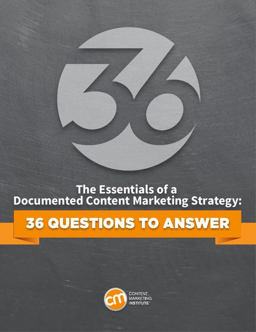 Content marketing documented strategy