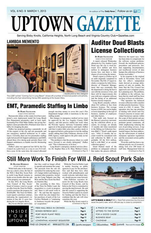 Uptown Gazette     March 1, 2013