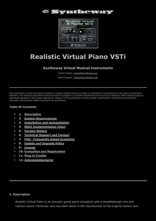 Realistic Virtual Piano VSTi Acoustic Kawai, Steinway & Yamaha G