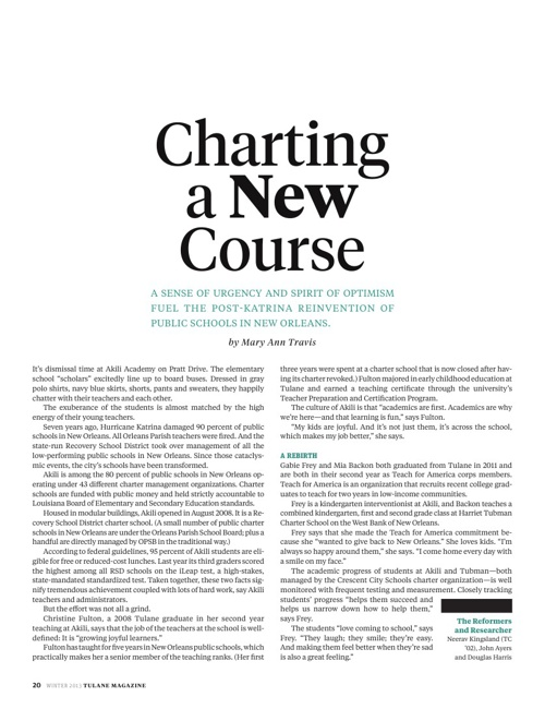 Charting a New Course - Tulane Magazine Winter 2013