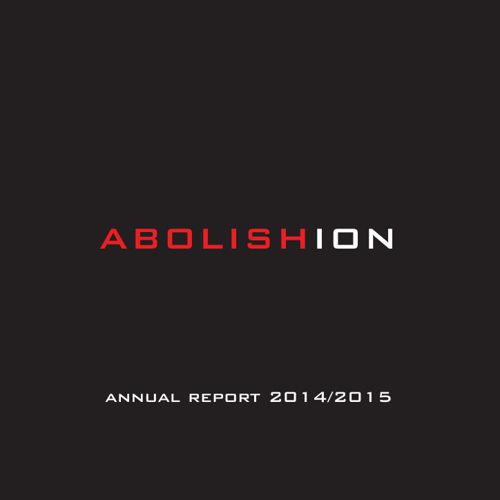 Abolishion 2014/2015 Annual Report