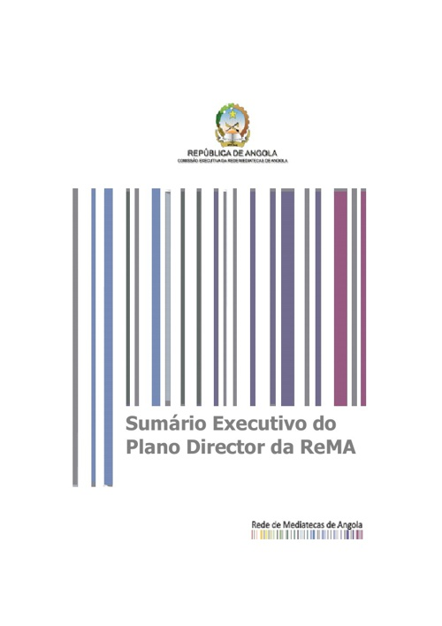 Sumário Executivo do Plano Director da ReMA