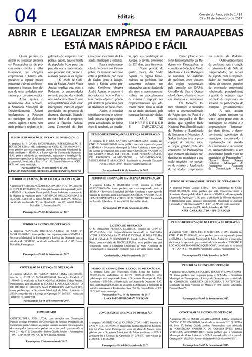 EDIÇÃO 1439 05 A 18 DE SETEMBRO DE 2017