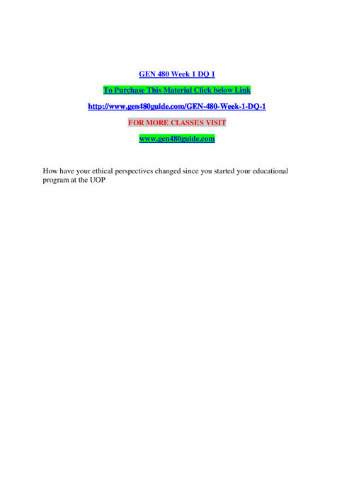 GEN 480 GUIDE Learn by Doing / gen480guide.com