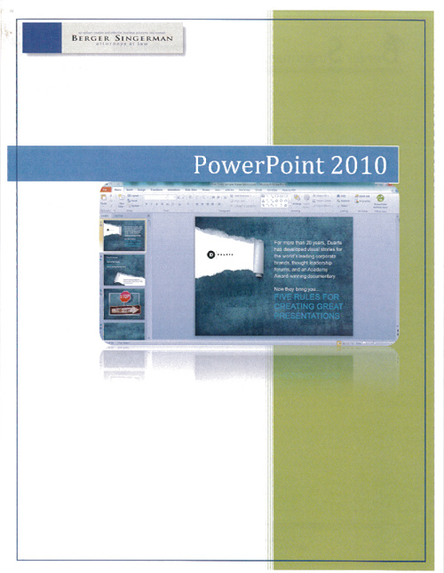 PowerPoint 2010 User Guide